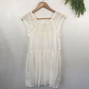 American Eagle Outfitters White Lace Eyelet Dress
